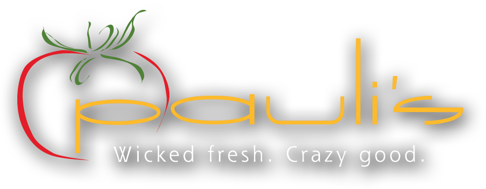 PAULI'S    Wicked fresh. Crazy Good. Logo