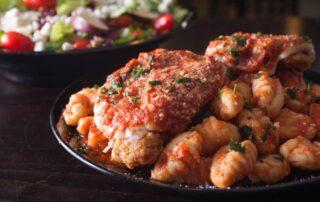 Chicken Parmigiana & Gnocchi Marinara