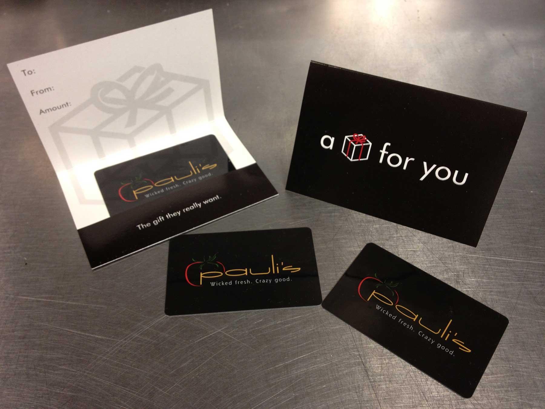 Pauli's Restaurant Gift Card